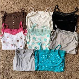 Bundle of 8 Justice Girl's Camisoles